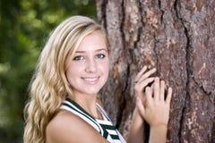 Cheerleader portrait stock image