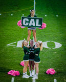 Cheerleader Pyramid Shows School Pride Stock Photos