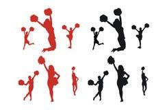 Cheerleader-Schattenbilder Lizenzfreie Stockfotos