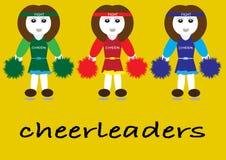 Cheerleader set Stock Image