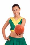 Cheerleader smiling Royalty Free Stock Photo