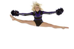 Cheerleader splits in the air Stock Photography