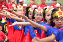 Cheerleader Sports elementary school students Royalty Free Stock Photo