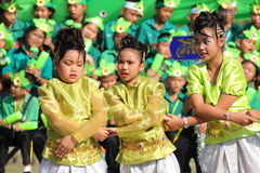 Cheerleader Sports elementary school students Stock Photo