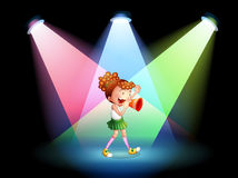 A cheerleader in the stage Royalty Free Stock Photo
