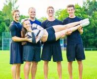 Cheerleader Team Practicing Royalty Free Stock Photo