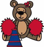 Cheerleader Teddy Bear Stock Photo