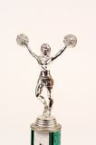Cheerleader trophy top Royalty Free Stock Image