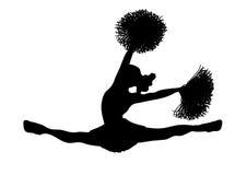 Cheerleader-Weiß 2 Stockbilder