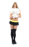 Cheerleader woman dancer Royalty Free Stock Image