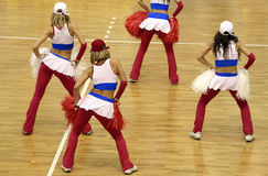 cheerleaderka Zdjęcia Royalty Free