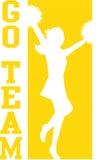 cheerleaderka eps będzie złoto zespołu Fotografia Stock