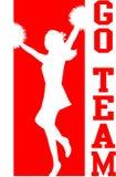 cheerleaderka eps się czerwone zespołu Zdjęcia Stock