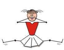 cheerleaderka kolor Ilustracji
