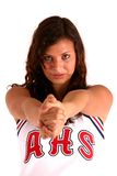 cheerleaderka white Obraz Royalty Free