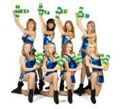 Cheerleadern Stockbild