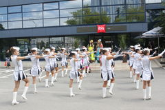 Cheerleaders Stock Afbeeldingen