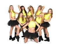 Cheerleaders Stock Foto's
