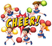cheerleaders Obraz Stock