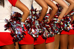 cheerleaders Photographie stock libre de droits