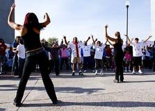cheerleaders aktywacyjny badanie lekarskie dwa Obrazy Stock