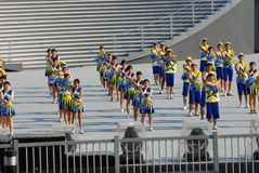 Cheerleaders Celebration Royalty Free Stock Photography