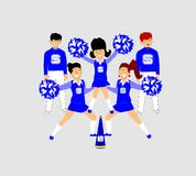 Cheerleaders Stock Photo