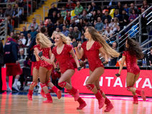 Cheerleaders of CSKA team Royalty Free Stock Photography