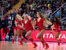 Cheerleaders of CSKA team royalty free stock photography