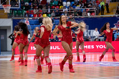Cheerleaders of CSKA team Stock Images