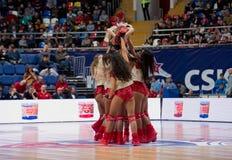 Cheerleaders of CSKA team royalty free stock photo