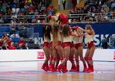 Cheerleaders of CSKA team stock photography