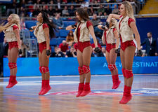 Cheerleaders of CSKA team royalty free stock image