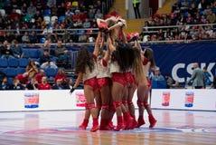 Cheerleaders of CSKA team royalty free stock photos