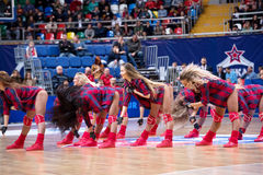 Cheerleaders of CSKA team stock photos