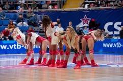 Cheerleaders of CSKA team stock image