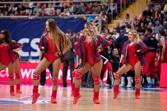 Cheerleaders of CSKA team Stock Photography