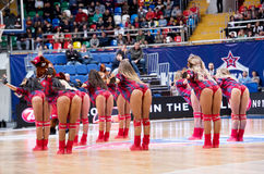 Cheerleaders of CSKA team Royalty Free Stock Image