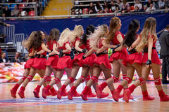 Cheerleaders of CSKA team Royalty Free Stock Photos