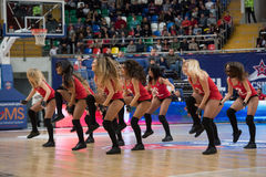 Cheerleaders of CSKA team Stock Photos