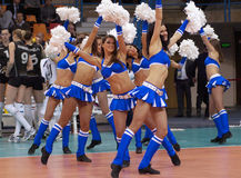 Cheerleaders dance stock photo
