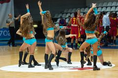 Cheerleaders dancing Stock Image