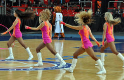 Cheerleaders dancing Royalty Free Stock Photography