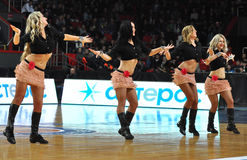 Cheerleaders dansing Royalty Free Stock Image