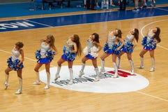 Cheerleaders of Dynamo team Royalty Free Stock Images