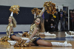 Cheerleaders finished Royalty Free Stock Photo