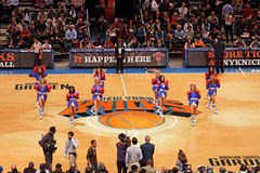 cheerleaders Knicks obraz stock