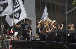Cheerleaders at LA Kings 2014 Stanley Cup Victory Parade, Los Angeles, California, USA Stock Image