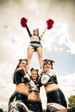 Cheerleaders Making A Pyramid Stock Photography