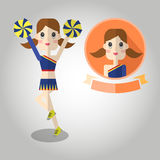 Cheerleaders Mascot cartoon great for any use. Vector EPS10. Stock Images